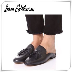 Sam Edelman Paris Tassel Loafer Mule Black